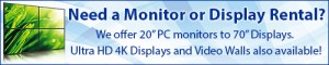 Get Your Monitor Or Display Rental For The 2015 Boston Small Business Expo