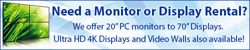 Get a Quote on a Monitor or Display Rental for Your Event from Rentacomputer!